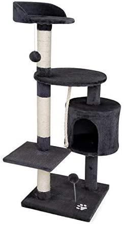 dibea Arbre à chat arbre à grimper griffoir pour chat hauteur 112 cm Gris foncé