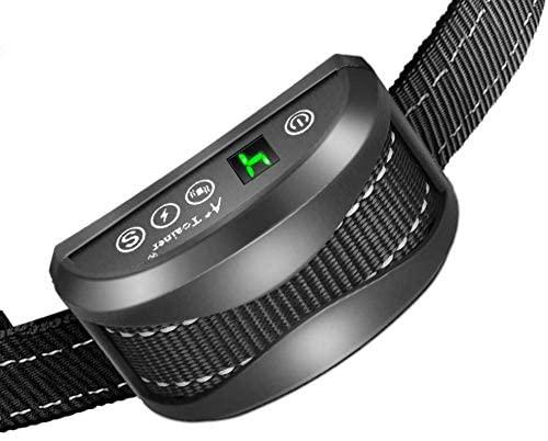 Collier Anti-aboiement Chien - 3 Modes Choc Électrique/Vibration/Sensibilité Aide au Dressage Inoffensif Automatique IP65 Batterie Rechargeable Sangle Reflechissant Réglable pour Petit Gros Chien