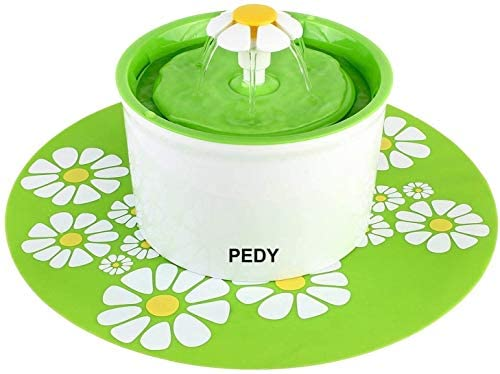 PEDY Fontaine à Fleur pour Chat 1,6 L,