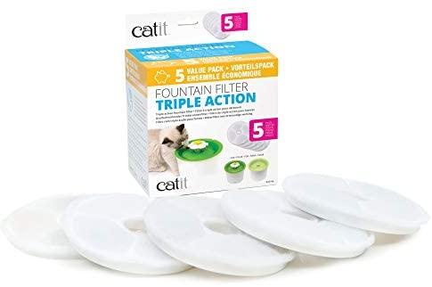 Catit Pack de 5 Filtres à Triple Action 2.0 pour