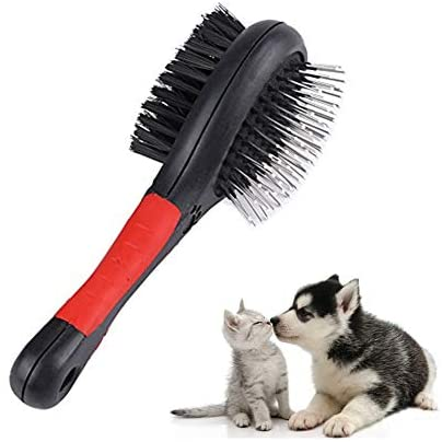 Peigne professionnel à la mode double face pour animal domestique Brosse de démêlage de poils pour enlever les poils de votre animal de compagnie pour le toilettage et le massage des chats
