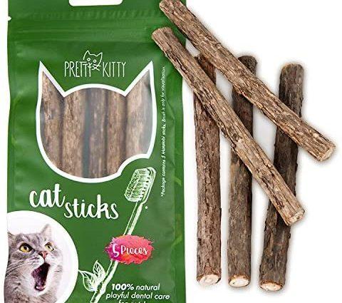 PRETTY KITTY 5 bâtons de Matatabi à mâchonner –