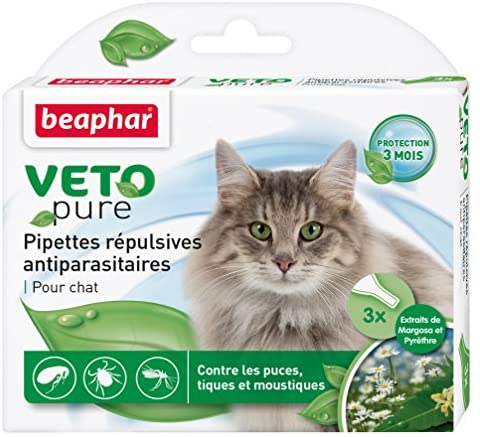 Beaphar - VETOpure, pipettes répulsives